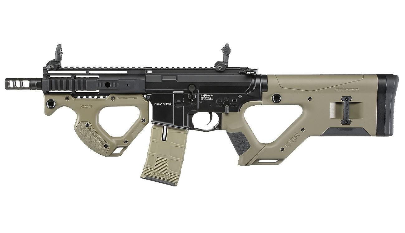 ASG - Carabine Hera Arms CQR SSS AEG - Desert / Noir (1.2 Joules)