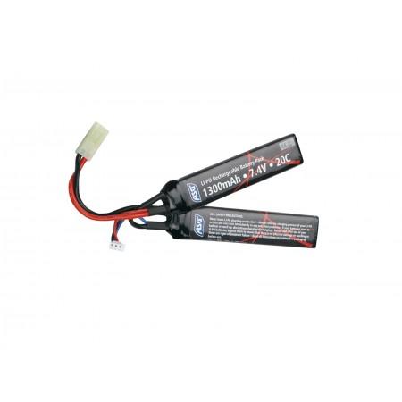 ASG - Batterie Li-Po 7.4V 1300mAh - Double stick