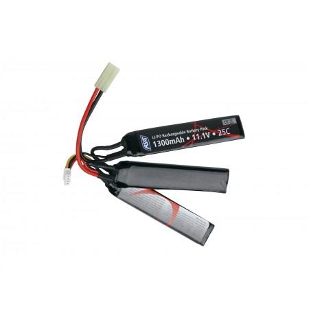 ASG - Batterie Li-Po 11.1V 1300mAh - Triple stick