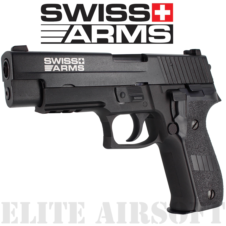 Swiss Arms - Type P226 SA Navy Pistol Railed - GBB - Gaz - Noir (1 joules)