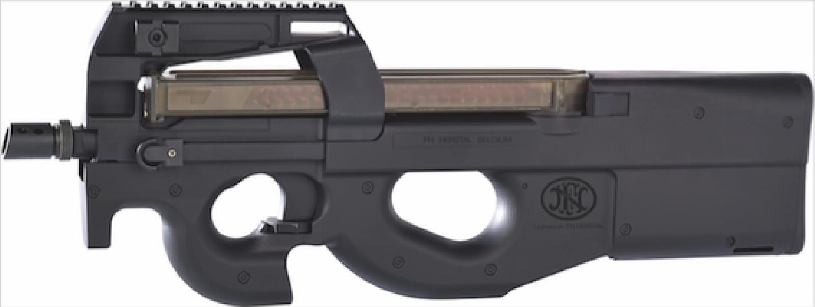 Cybergun - Pistolet mitrailleur FN P90 AEG avec Batterie et Chargeur de Batterie - Noir (1.4 joules)