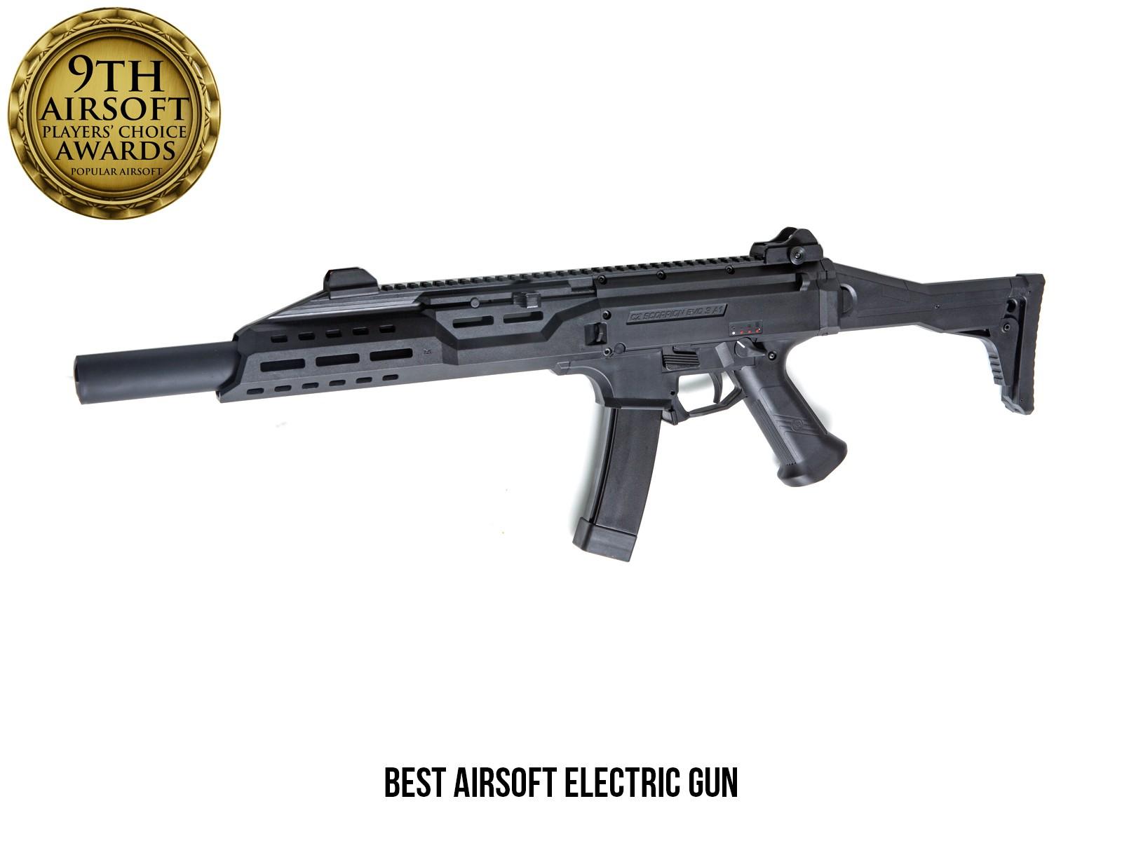 ASG - Fusil d'assaut Scorpion EVO 3 A1 + silencieux B.E.T. AEG - Noir (1.7 joules)