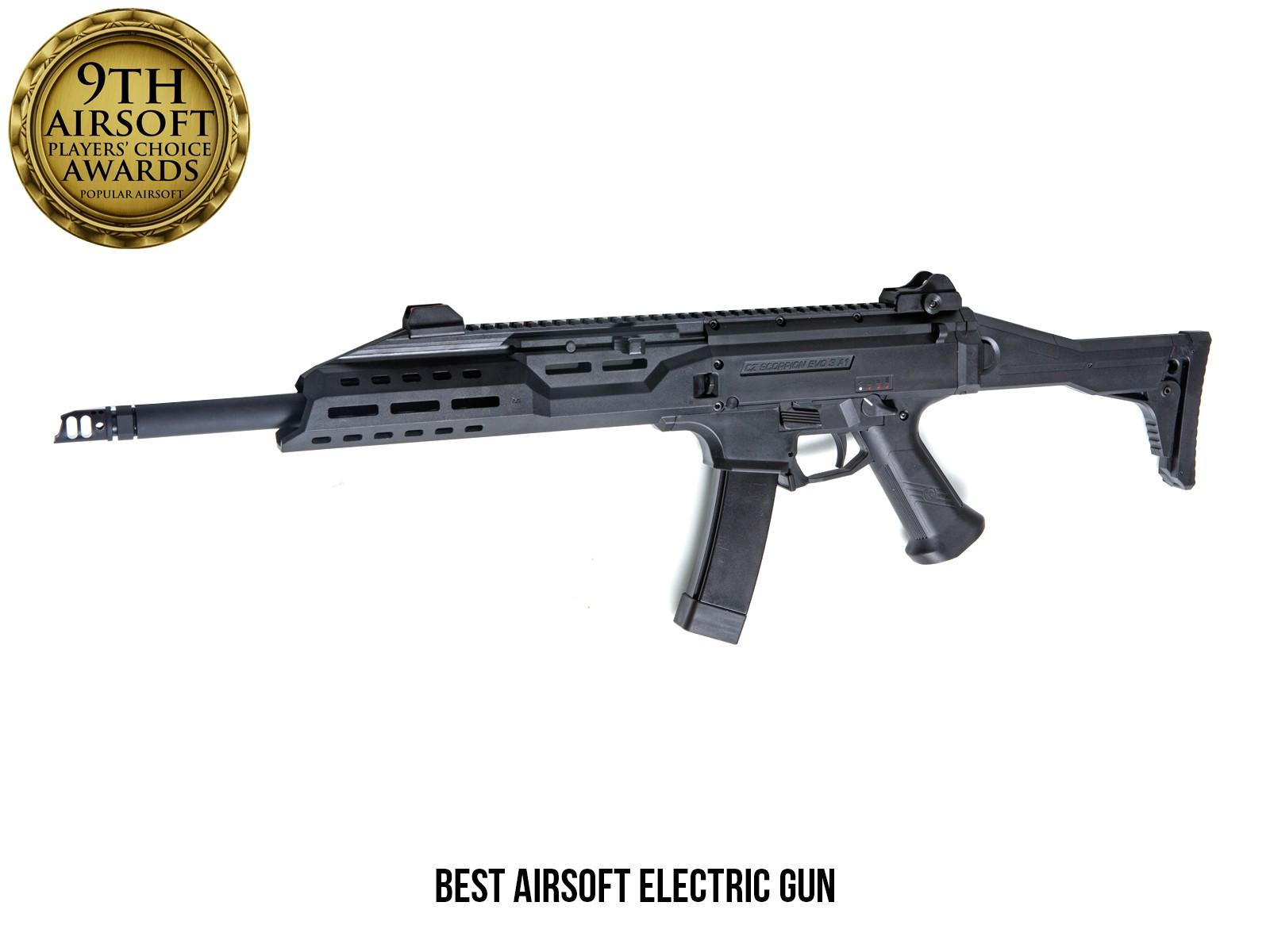 ASG - Fusil d'assaut Scorpion EVO 3 A1 Carbine AEG - Noir (1.7 joules)