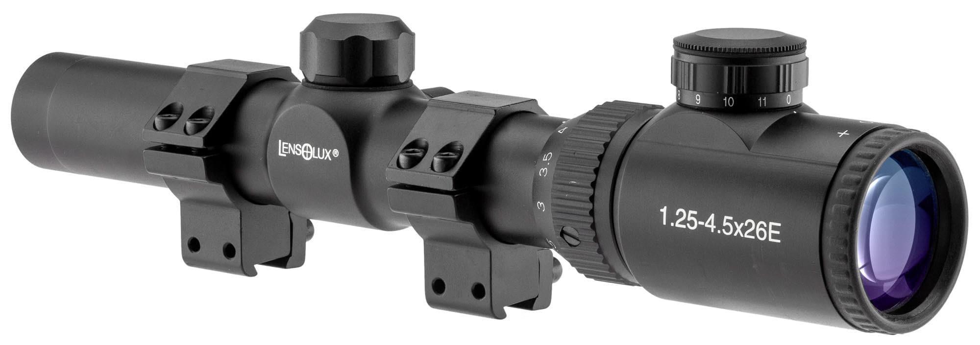 Lensolux - Lunette 1.25-4.5 X 26 Rétroéclairée (vendue avec anneaux de montage 11mm)