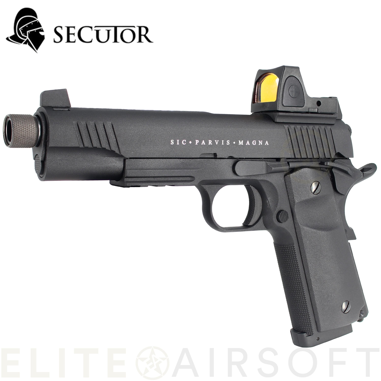SECUTOR - Pistolet RUDIS Magna XII - GBB - CO2 - Noir (1 joules)