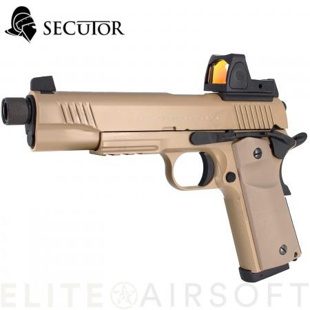 SECUTOR - Pistolet RUDIS magna VII GBB - CO2 - TAN...