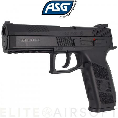 ASG - Pistolet CZ P-09 - GBB - Gaz - Noir (1 joules)