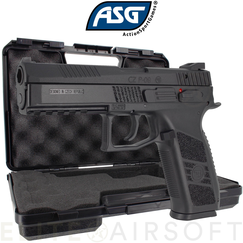 ASG - Pistolet CZ P-09 avec malette - GBB - Gaz - Noir (1 joules)