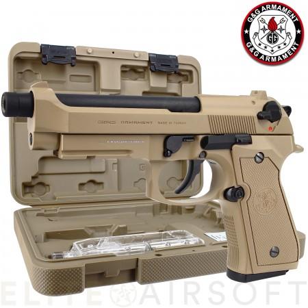 G&G - Pistolet GPM92 - GBB - Gaz - Tan (0.9joules)
