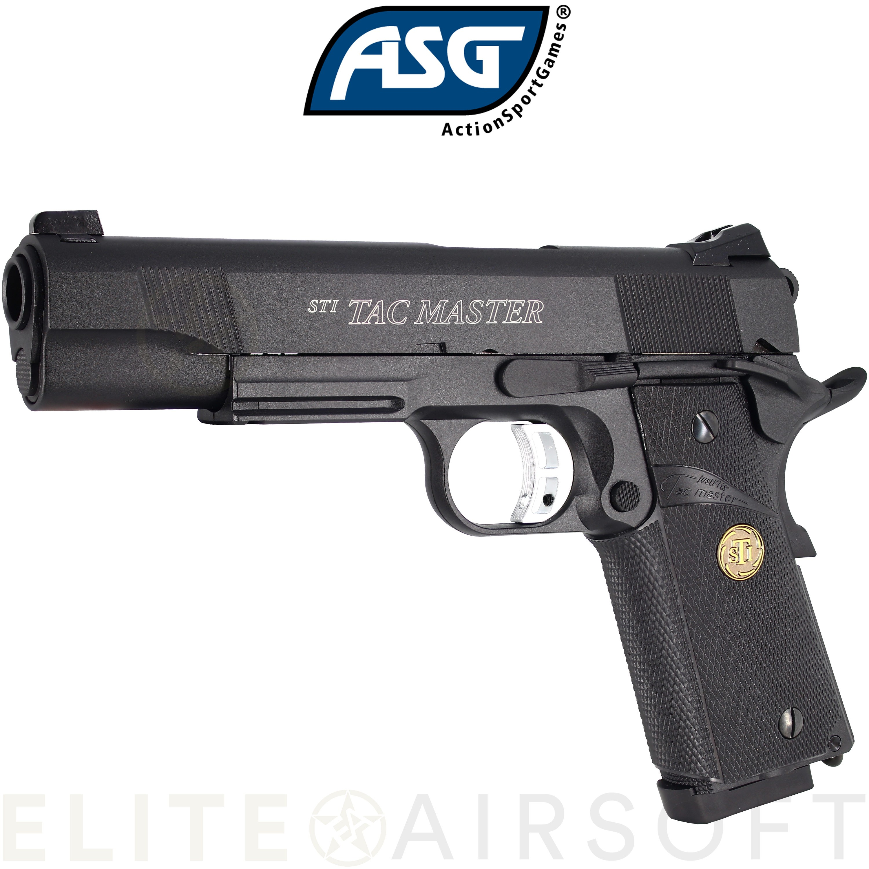 ASG - Pistolet STI Tac Master - GBB - Gaz - Noir (0.9 Joules)