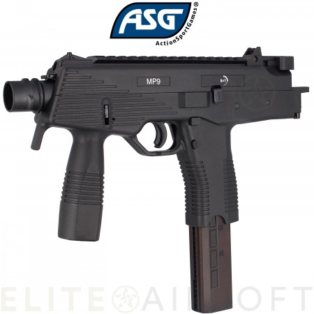 ASG - Pistolet mitrailleur MP9 A1 B&T - GBBR -...