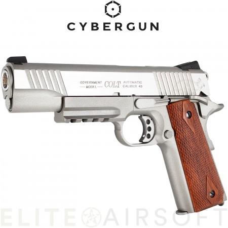 Cybergun -  Colt 1911 Rail Gun - GBB - CO2 - Inox (1...