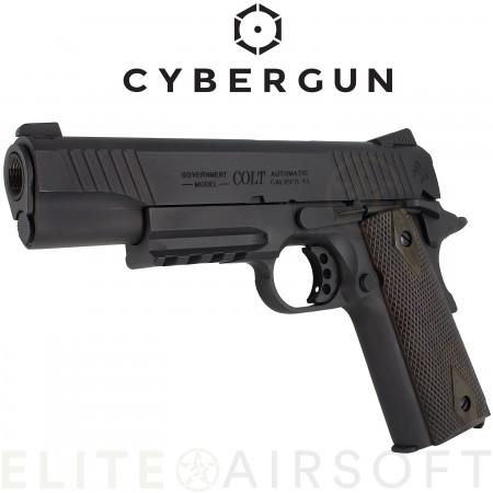 Cybergun - Colt 1911 Rail Gun - GBB - CO2 - Noir Mat...
