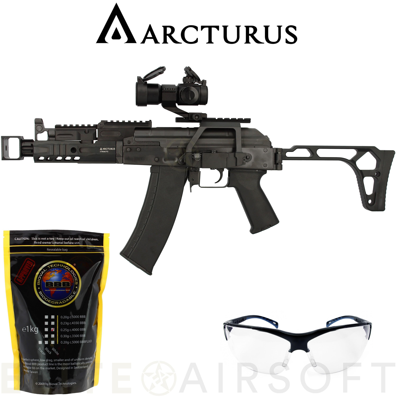 Arcturus - Carabine AK74U Custom AEG en pack - Noire (1.1 Joule)