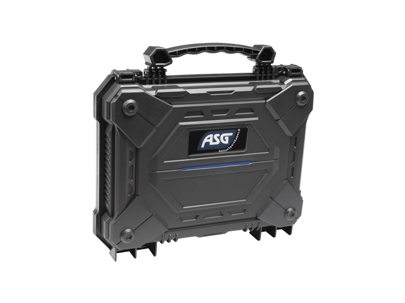 ASG - Malette de transport étanche mousse prédécoupée 6X21X29 - Noire - ABS
