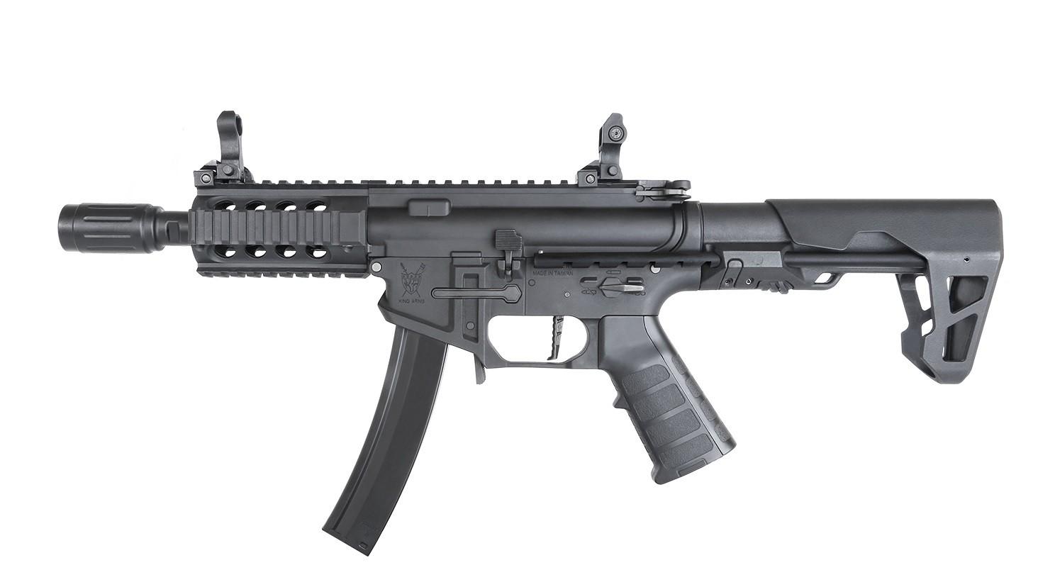 King Arms - Carabine PDW9 SBR Shorty - AEG - Noir  (1.2 Joule)