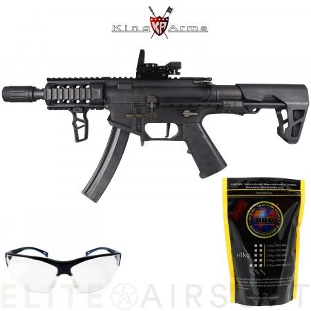 King Arms - Carabine PDW9 SBR Shorty + viseur point...