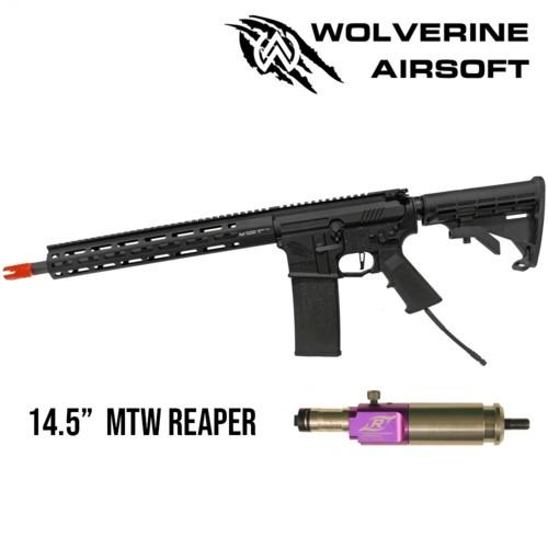 """Wolverine - Carabine M4 HPA MTW avec système Reaper - Canon de 14.5"""""""" - Rail de 13"""""""